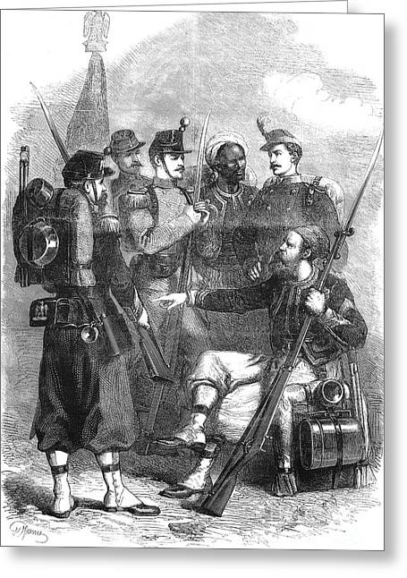 French Infantry, 1870 Greeting Card by Granger