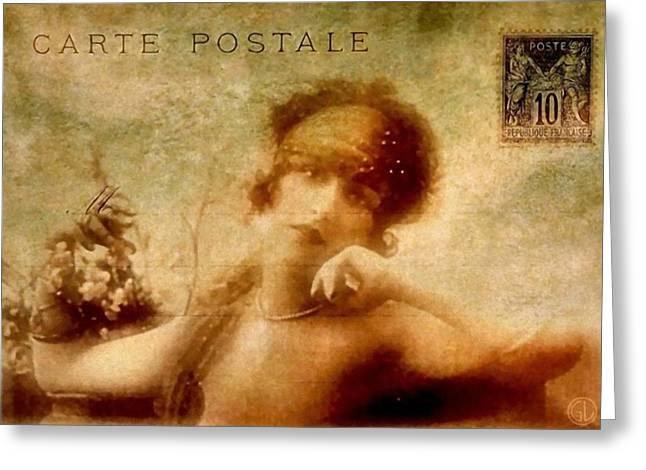 French Postcard Greeting Card by Gun Legler