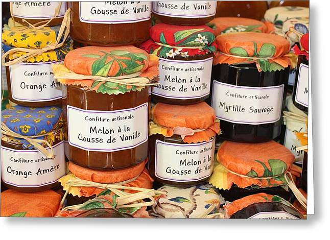 French Preserves Greeting Card by Yvonne Ayoub