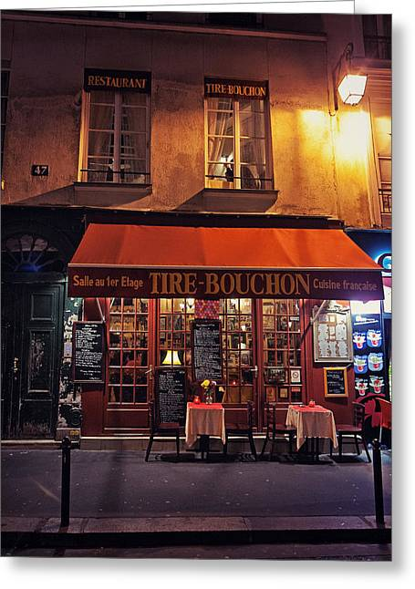 French Restaurant Greeting Card by Benjamin Matthijs