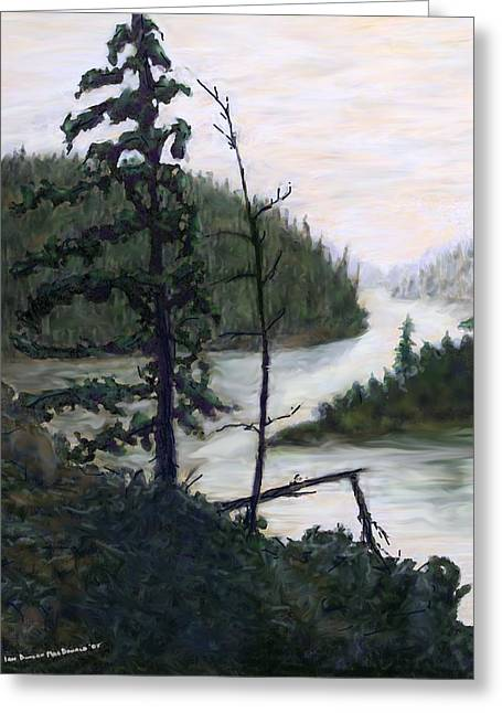 French River Country Northern Ontario Greeting Card