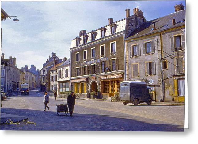 French Village Greeting Card by Chuck Staley