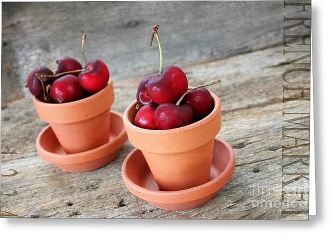 Fresh Cherries II Greeting Card