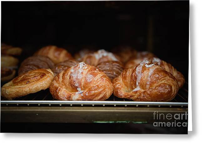 Fresh Croissants Paris Greeting Card by Ei Katsumata