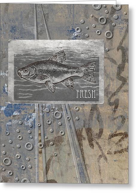 Fresh Fish Greeting Card by Carol Leigh