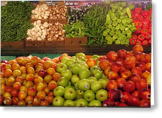 Fresh Market Series. Bounty. Greeting Card by Ausra Huntington nee Paulauskaite