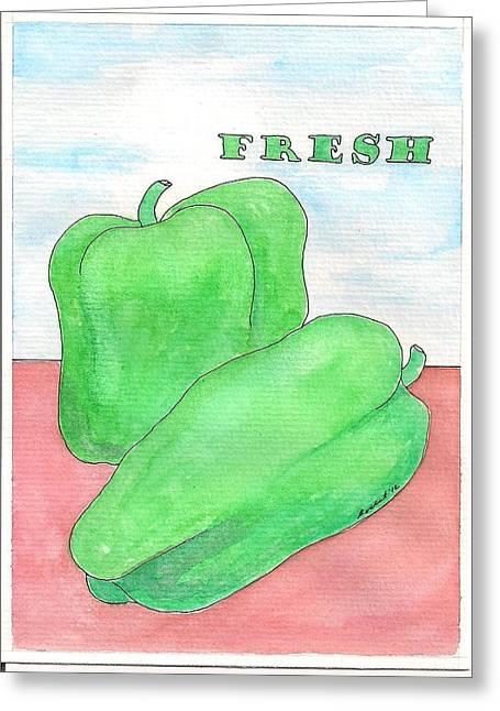 Fresh Greeting Card by Melanie Rochat