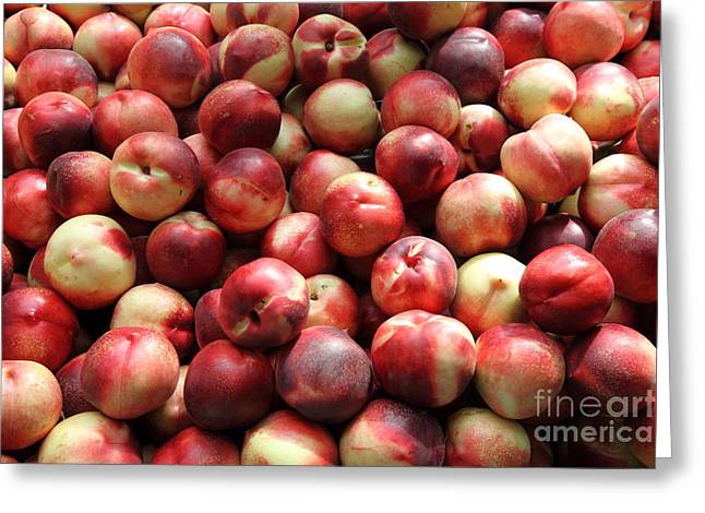 Fresh Nectarines - 5d17813 Greeting Card by Wingsdomain Art and Photography