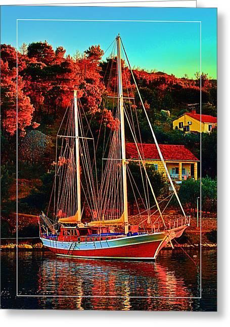 Fresh Sail  Greeting Card by Gennadiy Golovskoy