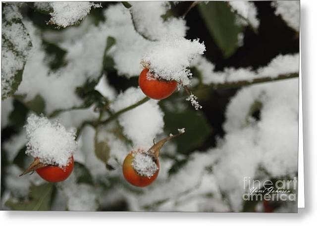 Greeting Card featuring the photograph Fresh Snow by Yumi Johnson
