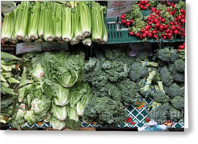Fresh Vegetables - 5d17911 Greeting Card by Wingsdomain Art and Photography