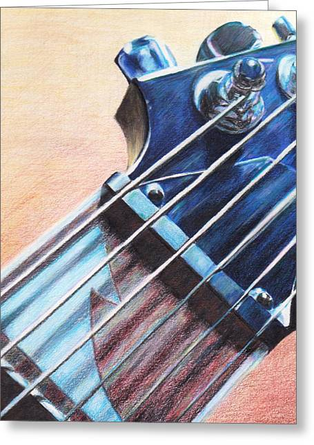 Fret Greeting Card by George Wagner