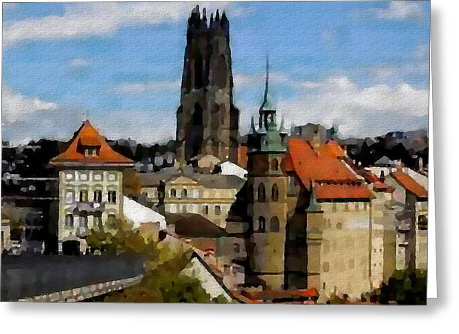 Fribourg Switzerland Greeting Card