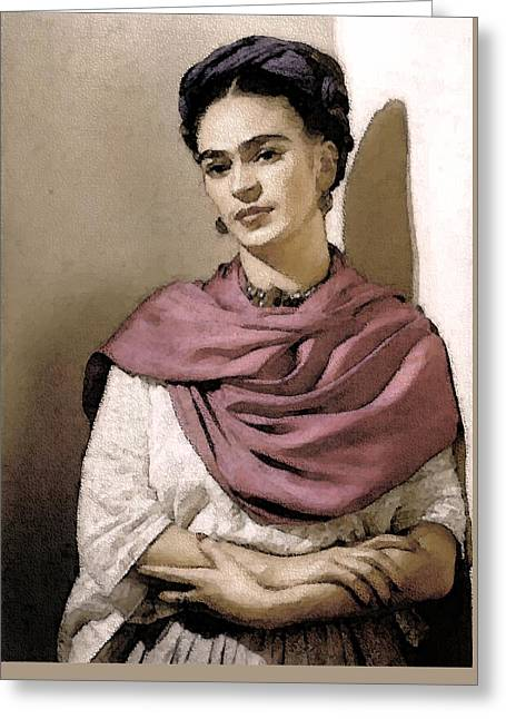 Frida Interpreted 2 Greeting Card by Lenore Senior