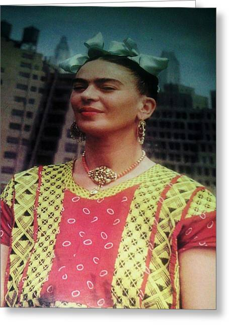 Frida Kahlo 5 Greeting Card by Unique Consignment