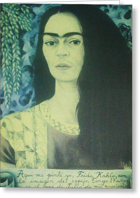 Frida Kahlo 8 Greeting Card by Unique Consignment