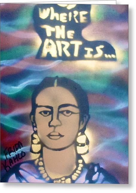 Frida Kahlo Greeting Card by Tony B Conscious
