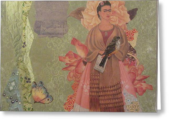 Frida S Gown Greeting Card