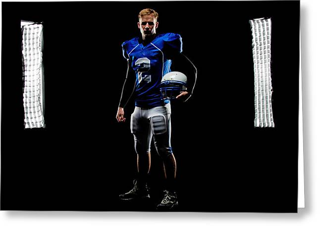 Greeting Card featuring the photograph Friday Night Lights by Jim Boardman