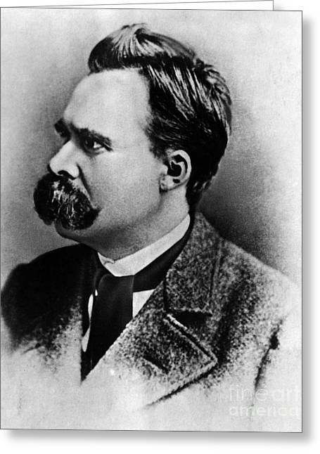 Friedrich Wilhelm Nietzsche, German Greeting Card by Omikron