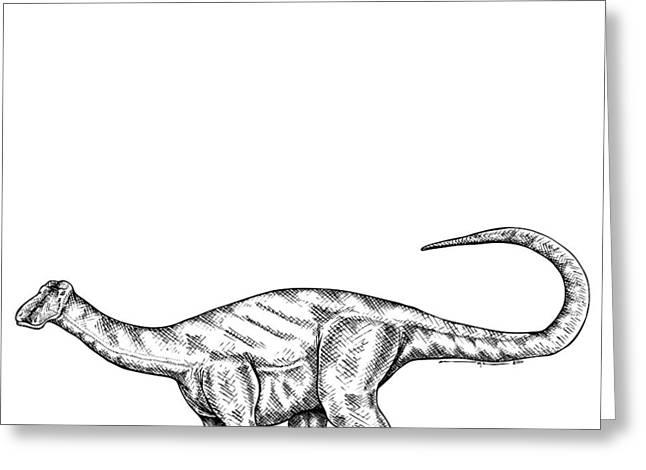 Friendlysaurs - Dinosaur Greeting Card by Karl Addison
