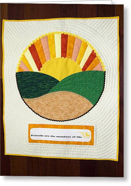 Friends Are Sunshine Greeting Card by Sally Weigand