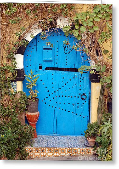 Greeting Card featuring the photograph Friendship Door by Eva Kaufman