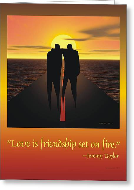 Friendship Poster Greeting Card