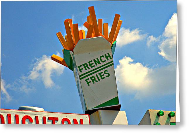 Fries In The Sky Greeting Card by Bruce Carpenter