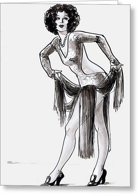 Fringed Dancer Greeting Card