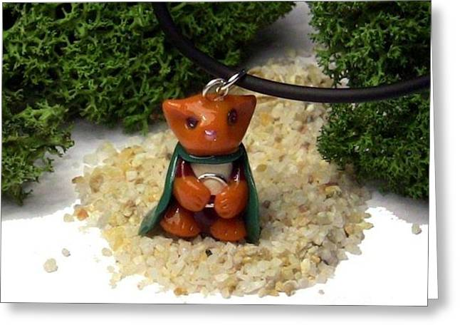 Frodo Kitty Hugging The One Ring Lord Of The Rings Parody Necklace Greeting Card