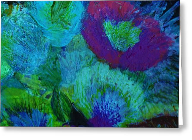 From My Heart Of Rising  Passion Greeting Card by Anne-Elizabeth Whiteway