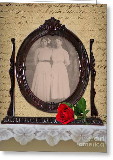 From The Past Greeting Card by Betty LaRue