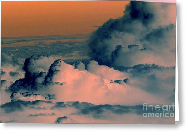 From The Plane Greeting Card by Silvie Kendall