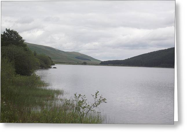 Greeting Card featuring the photograph From The Shoreline Of St Marys Loch by Martin Blakeley