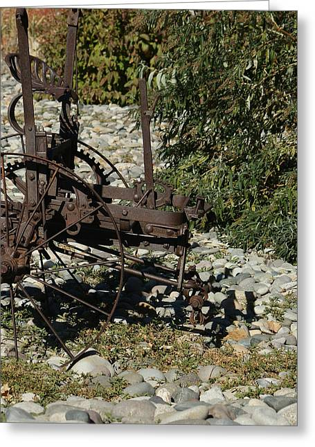 Front Half Of Old Plow Greeting Card by Ernie Echols