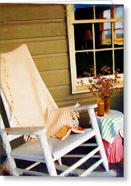 Front Porch Pleasures Greeting Card by Edie Kynard
