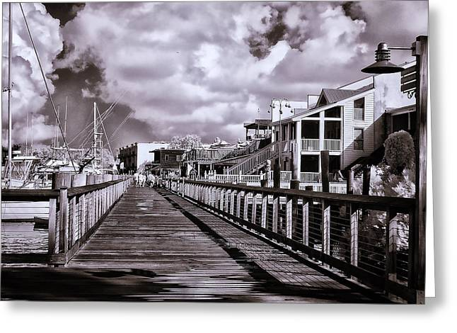 Front Street Boardwalk - Infrared Greeting Card