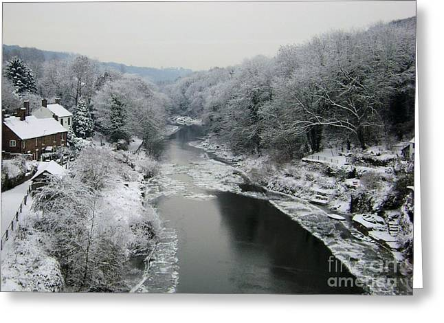 Frosted Trees At Ironbridge Greeting Card