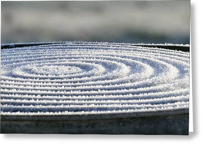 Frosty Swirls Greeting Card