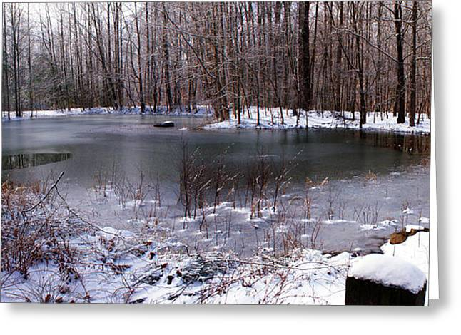 Greeting Card featuring the photograph Frozen Head Pond by Paul Mashburn