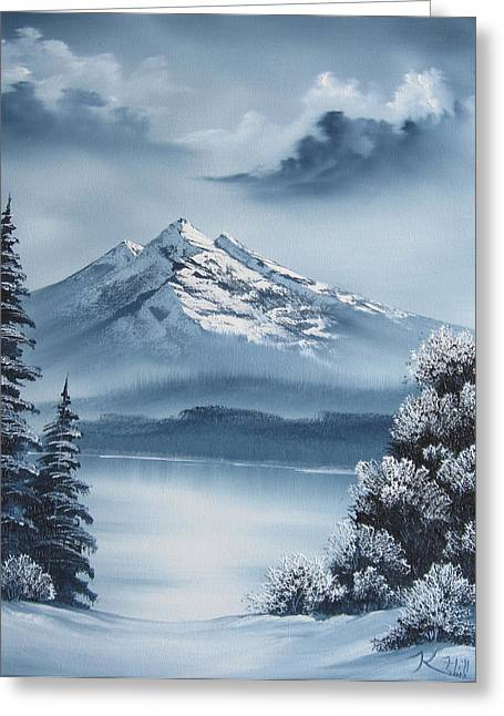 Frozen Mountain Greeting Card by Kevin Hill