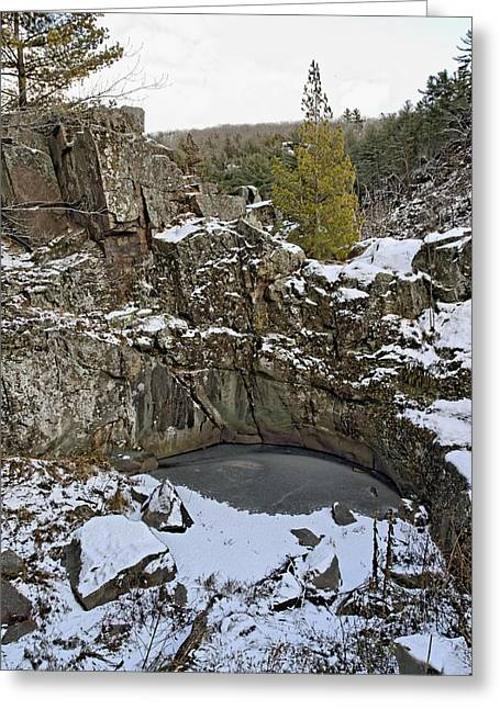 Frozen Sink Hole Greeting Card by Roderick Bley