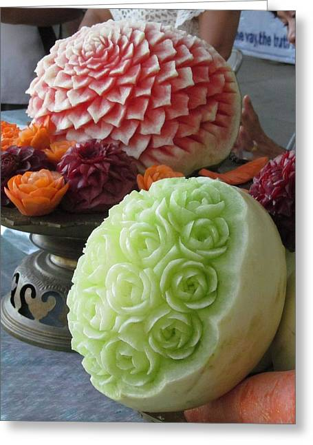 Fruit carving photograph by alfred ng