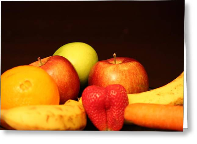 Fruit Dreams After Mid-night Greeting Card by Andrea Nicosia