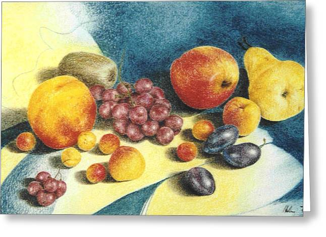 Fruit Greeting Card by Helene Schmittgen
