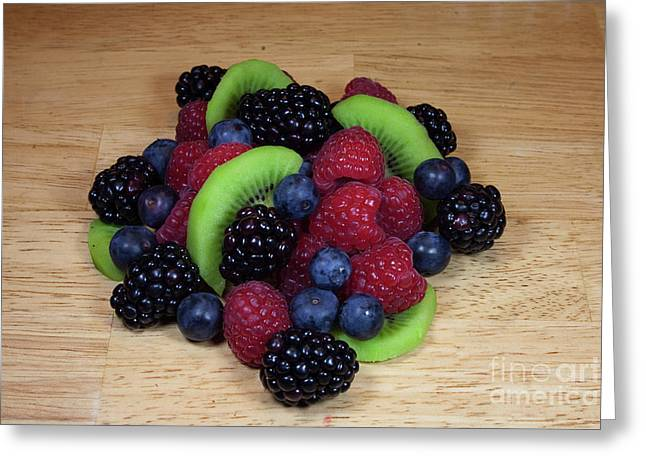 Fruit Mixture 2 Greeting Card by Michael Waters
