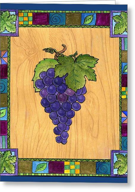 Fruit Of The Vine Greeting Card by Pamela  Corwin