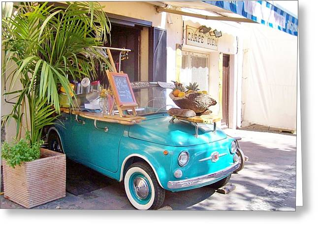 Fruit Stand In Collioure France Greeting Card