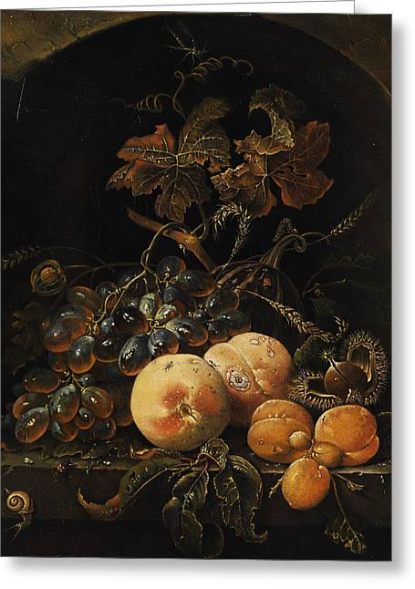 Fruit Still Life Greeting Card by Flemish Painter